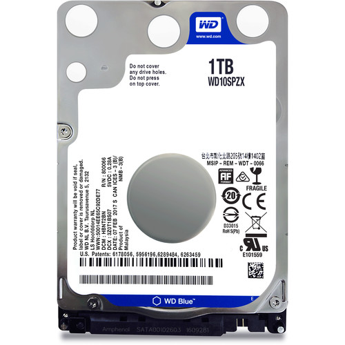 "WD Blue 1TB SATA 2.5"" Mobile Hard Drive"