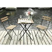 Merax 3 Piece Folding Bistro Set Outdoor Table Chairs Patio Garden Furniture