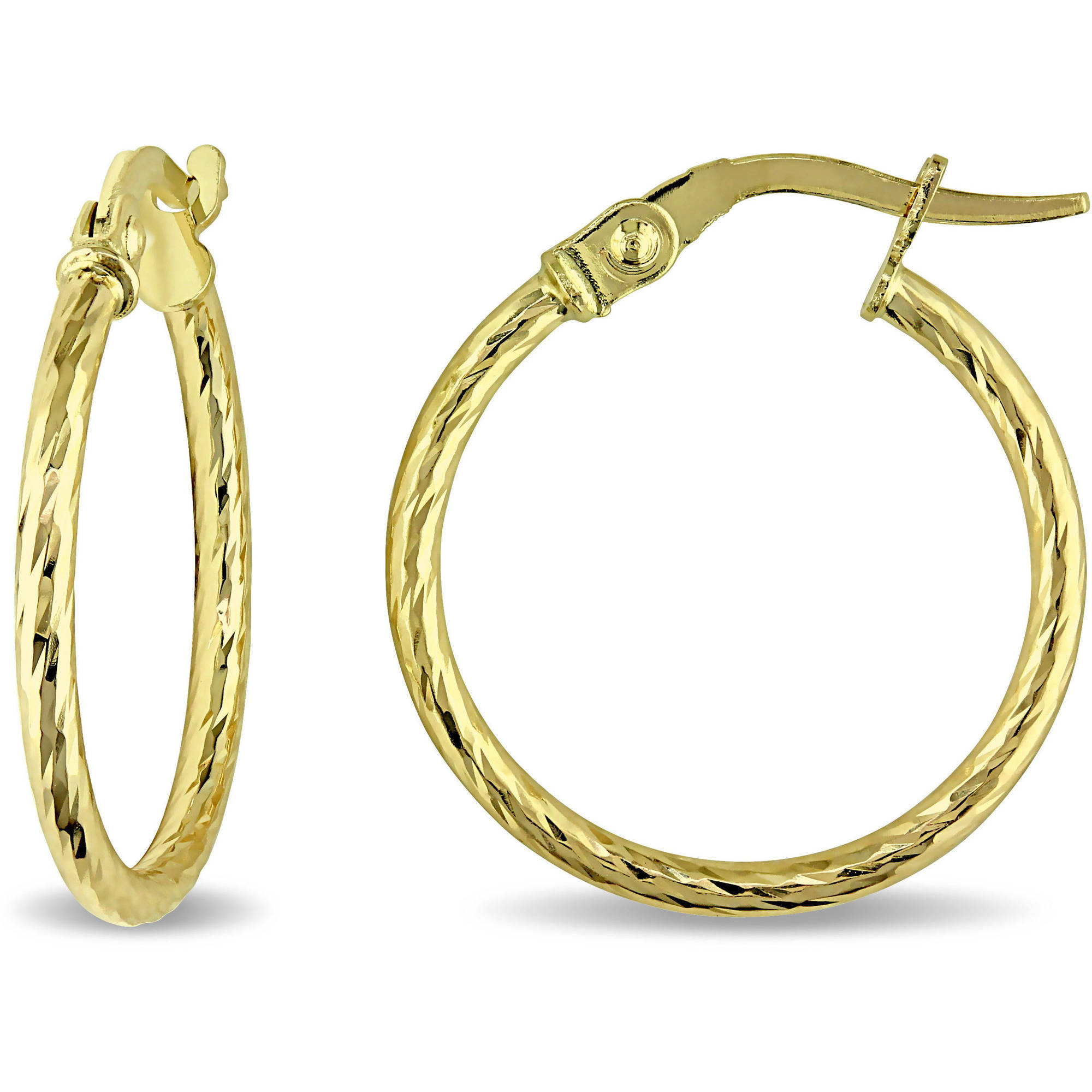 10kt Yellow Gold Twisted Hoop Earrings