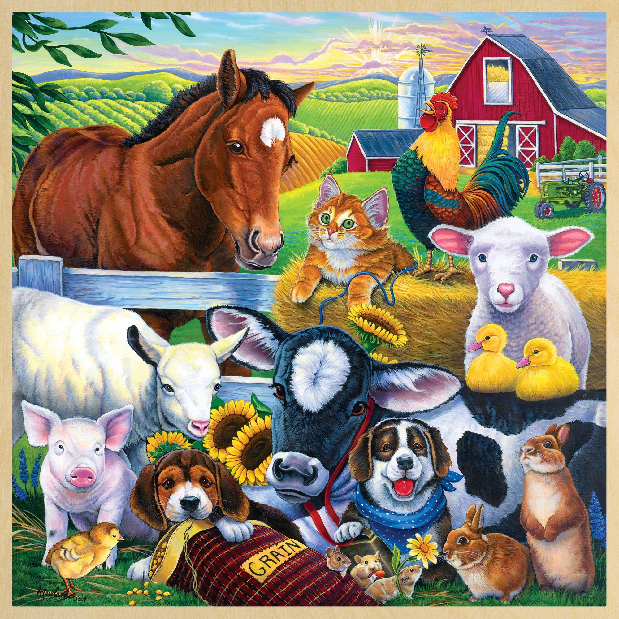 MasterPieces Farm Friends 48 Piece Puzzle by MasterPieces Puzzle Company