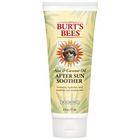 Aloe and Coconut Oil After Sun Soother, Sunburn Relief Lotion - 6 Ounce Bottle Burt's Bees - 6 Ounces ()