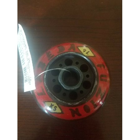 (Red+BLACK) - Fuzion Spoke SC 76MM Scarlet Pro Scooter Wheel with Abec Nextsport Fuzion Scooter