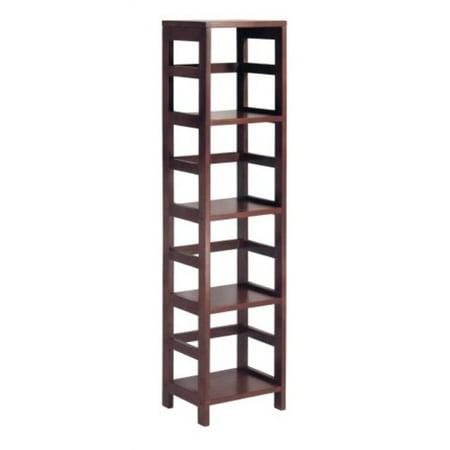 Winsome Wood 4 Shelf Narrow Shelving Unit Espresso
