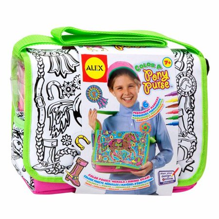 ALEX Toys Color a Bag & Accessories Color A Pony Purse