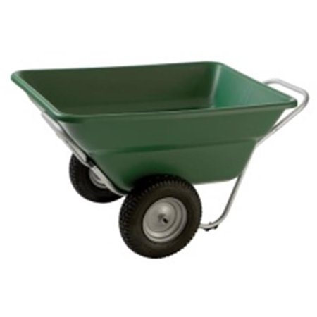 Smart Carts Contractor Grade Cart, 7 Cu. Ft. Tub, With 16 In. Heavy Duty Turf Wheels, Green