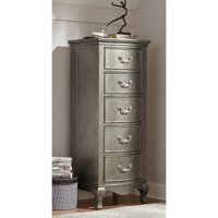 Rosebery Kids 5 Drawer Tall Chest in Antique Silver
