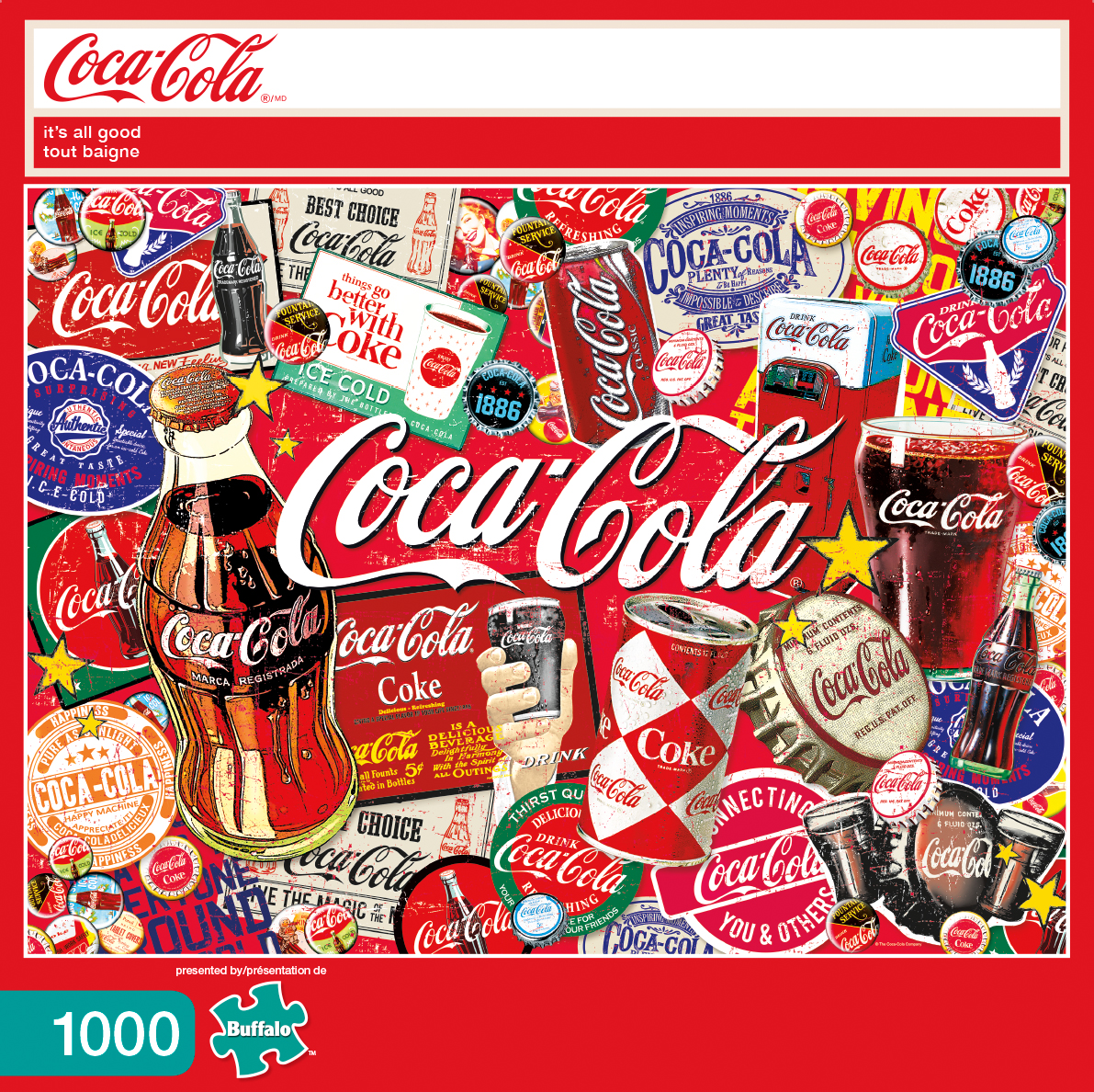 Buffalo Games Coca Cola: It's All Good, 1000 Piece Jigsaw Puzzle