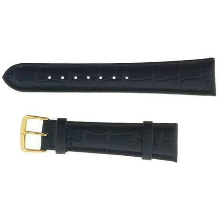 Hadley Roma 762402503144 Women's Black Alligator Grain 14mm Watch Band (Black Alligator Watch)