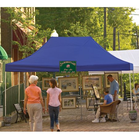 10' x 15' Pro Pop-up Canopy Straight Leg, Blue Cover