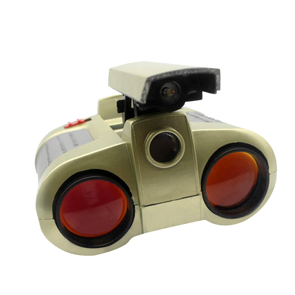 Mosunx 4x30 Binocular Telescope Pop-up Light Night Vision Scope Binoculars Novelty Toy