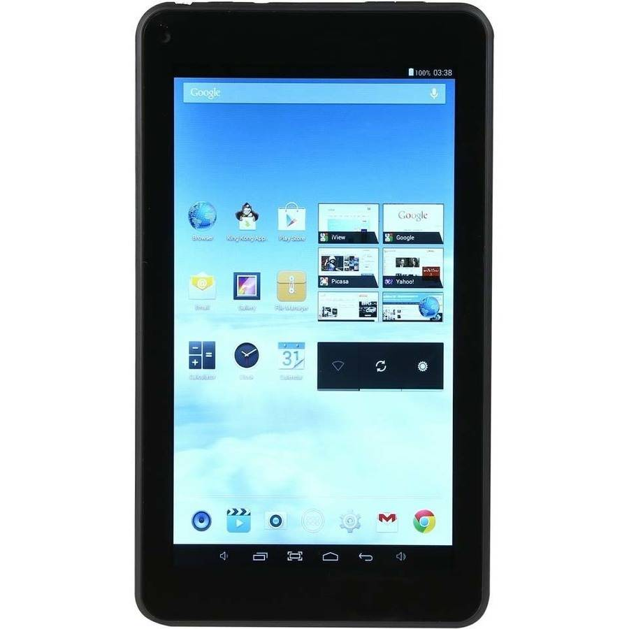 "iView 733TPC with WiFi 7"" Touchscreen Tablet PC Featuring Android 4.4 (KitKat) Operating System, Black"