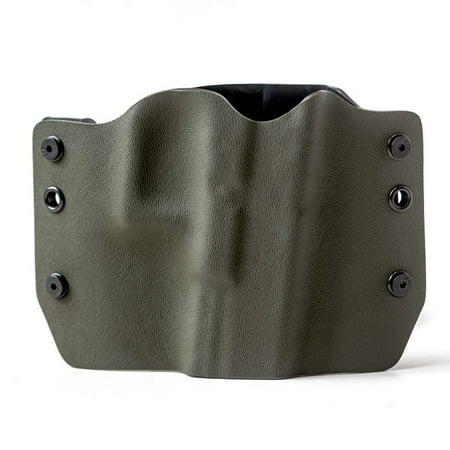 Outlaw Holsters: OD Green OWB Kydex Gun Holster for Ruger LCR .38 Special, Right