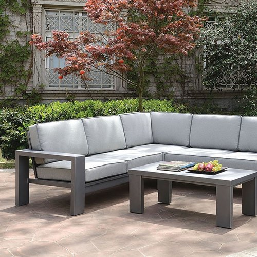 Latitude Run Aaru 2 Piece Sectional Seating Group with Cushions