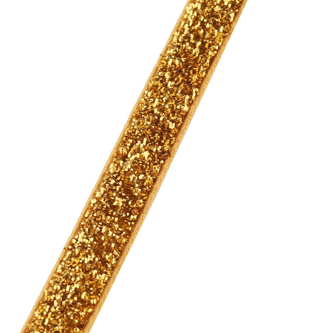 Decoration Velvet Bling Ribbon DIY Gift Headband Orange 50 Yard 1cm Width - image 3 of 4