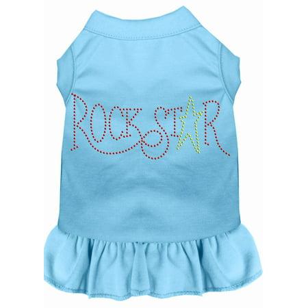 Rhinestone Rockstar Dress Baby Blue Med - Rockstar Dress