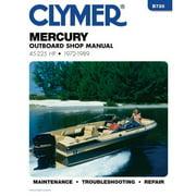 Clymer B726 Repair Manual For Mercury Outboards (45-225 HP) - 1972-1989