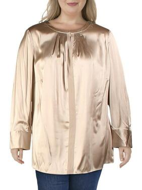 Basler Womens Silk Sleeveless Shell Blouse Top Plus BHFO 5191