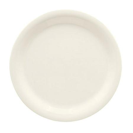 Ivory Narrow Rim Plate - Diamond Ivory 10.5 inch Narrow Rim Plate Melamine/Case of 12