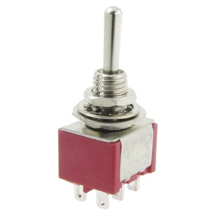 4pcs 2A/250VAC 5A/120VAC Momentary on/off/on 2P2T DPDT Toggle Switch 6 Pins Dpdt Momentary Switch Type