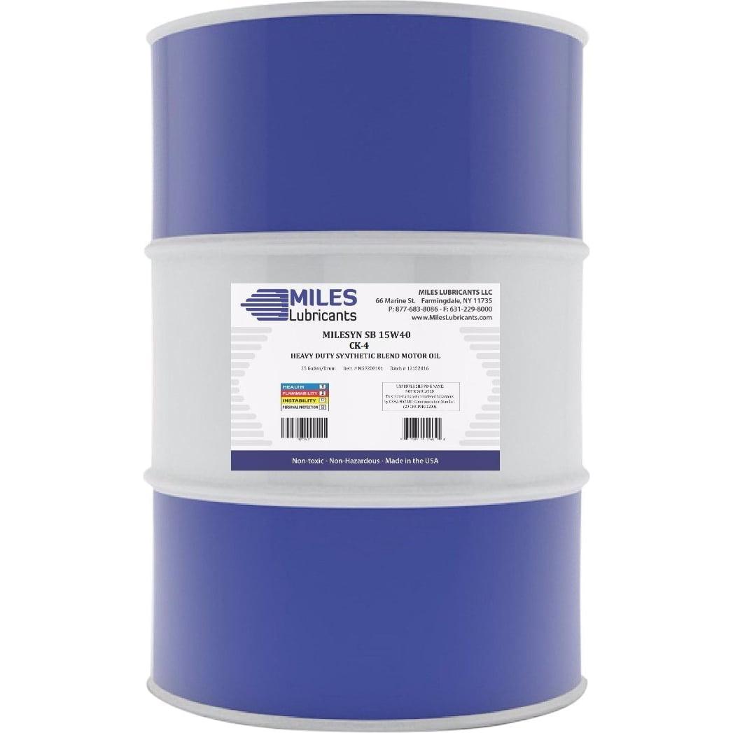 Milesyn SB 15w40 API CJ-4, Synthetic Blend Diesel Motor Oil, 55-Gallon Drum