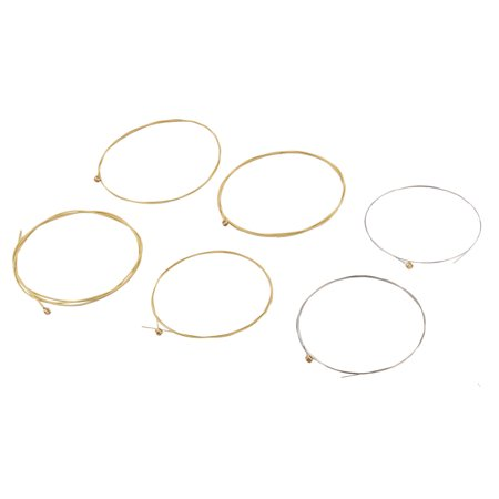 6 Pcs Steel Strings Replacement New for Beginner Acoustic Guitar