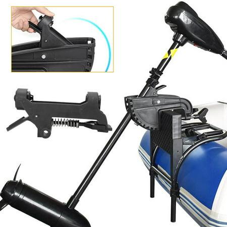 Tebru Inflatable Boat Motor Accessory,12V Electric Thruster Bracket Inflatable Boat Kayak Motor Accessory Rubber Dinghy Motor