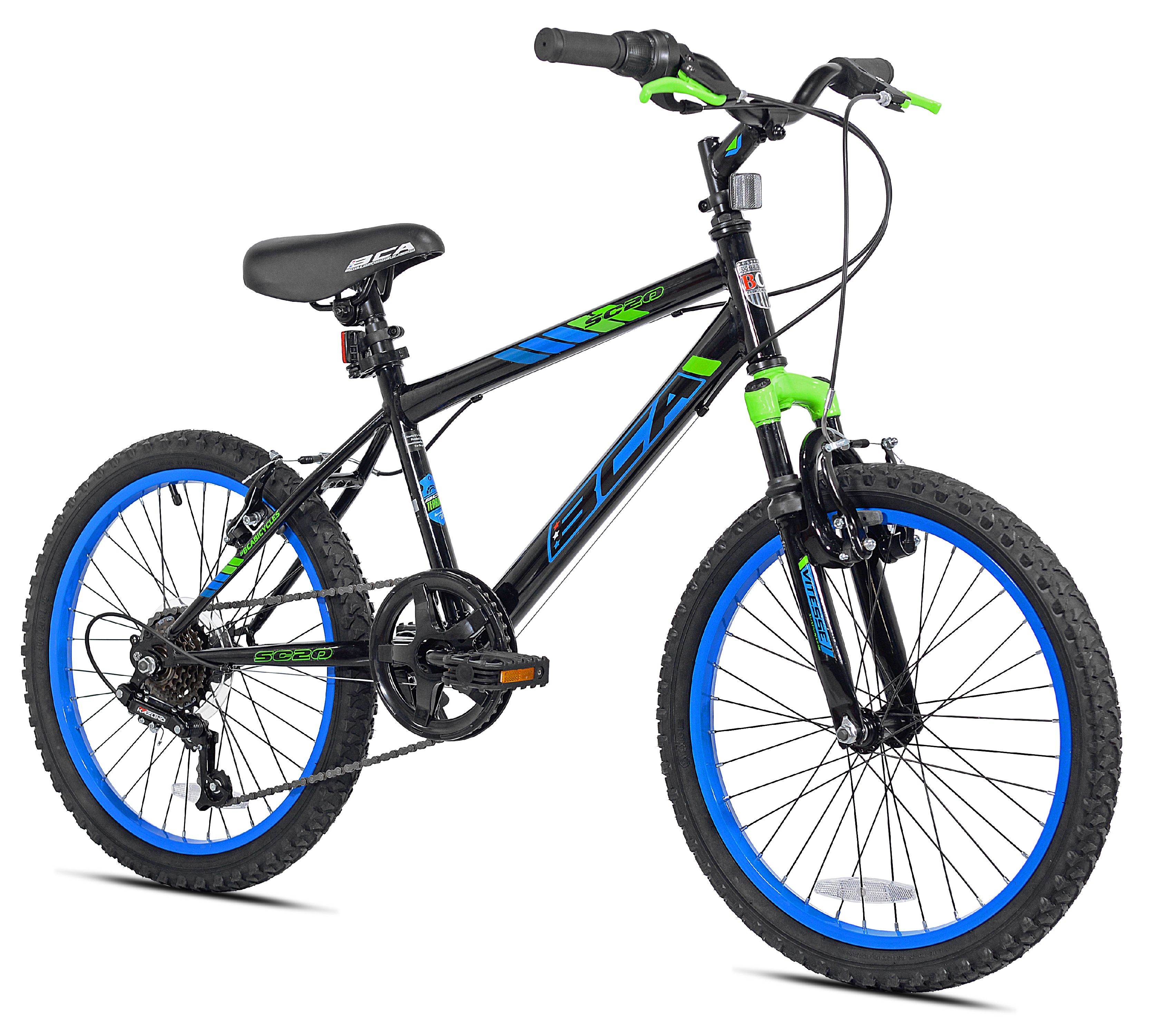 "BCA 20"" Boys', SC20 BMX Bicycle, Black/Blue, For Ages 8-12"