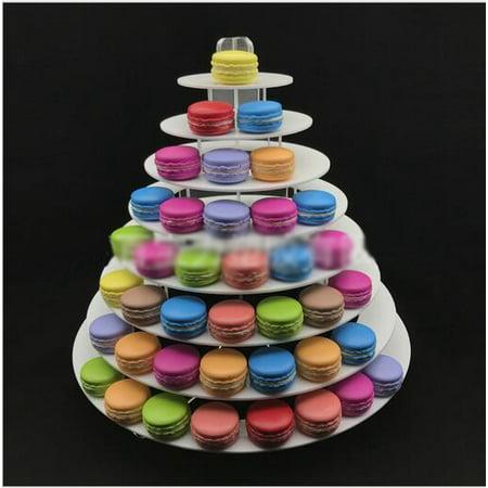 8Tier Circular Macaron Tower Macaron Stand to Hold about 180 Macarons Display Wedding Birthday Party Christmas Dessert - Macaron Tower Stand