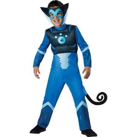 Wild Kratts Costumes (Wild Kratts Child Muscle Chest Costume Blue Martin Kratt Spider)
