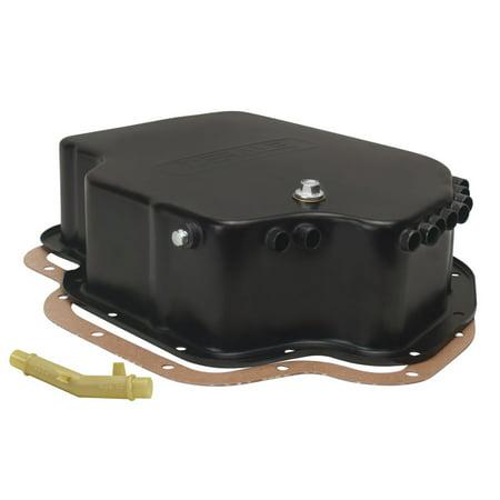 DERALE Black Steel 4 in Deep Cooling Transmission Pan TH400 P/N 14202