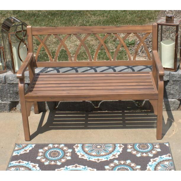 Pebble Lane Living Elegant Hardwood Outdoor 2 Seater Bench ... on Pebble Lane Living id=14926
