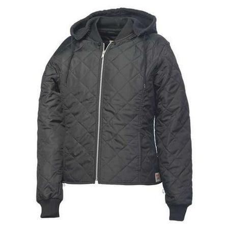 WORK KING 243511-XS-BLK Womens Freezer Jacket, Polyester, Black, XS