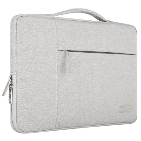 Polyester Fabric Multifunctional Sleeve Briefcase Handbag Case Cover for 13-13.3 Inch Laptop, Notebook, MacBook Air/Pro,Gray