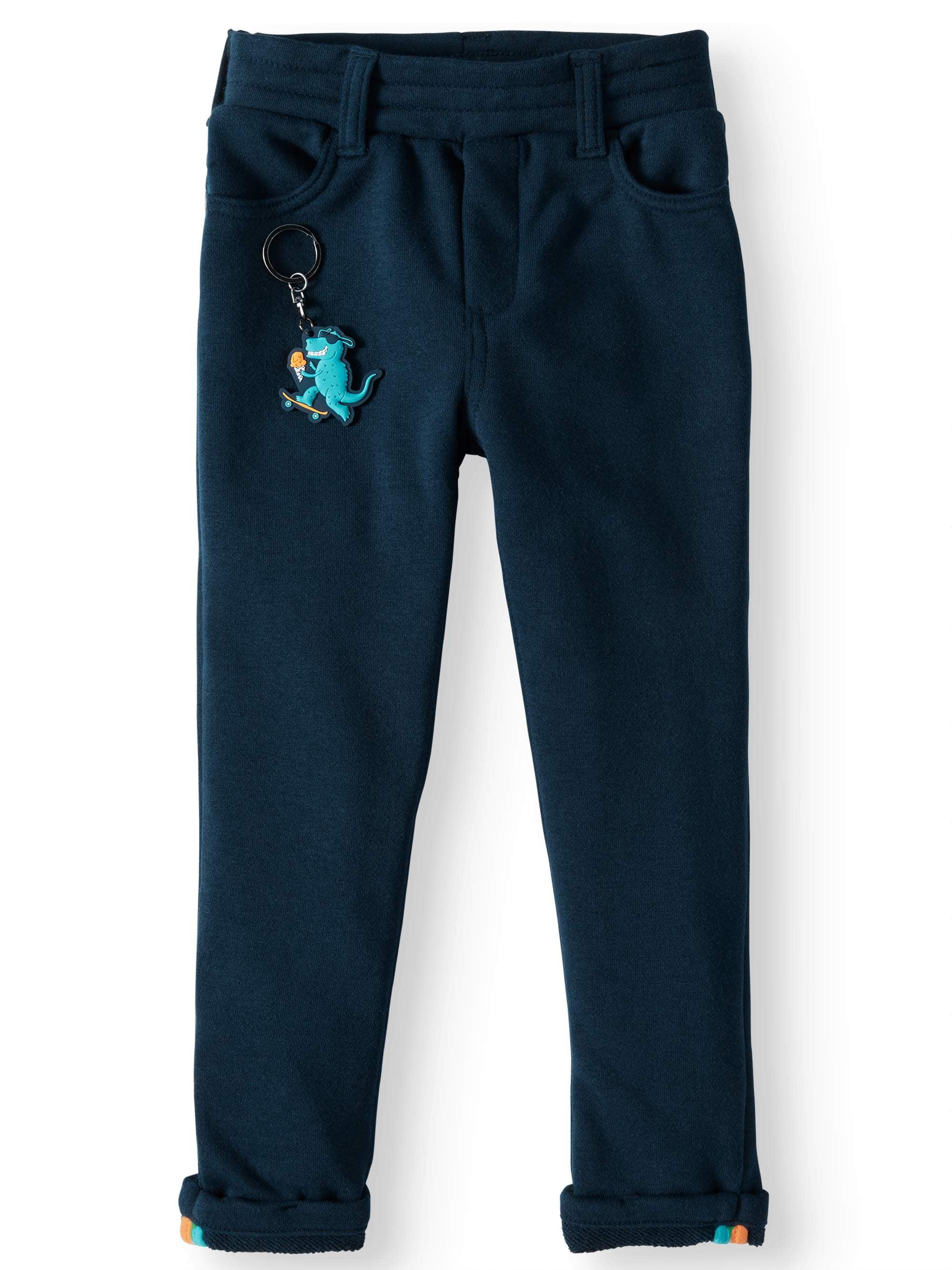 French Terry Slim Pants with Keychain (Little Boy & Big Boy)