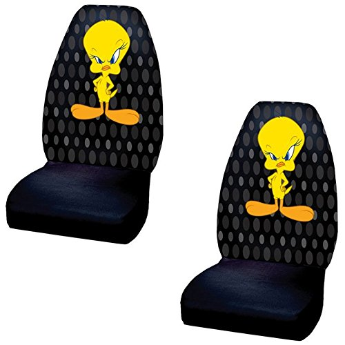 Tweety Bird Car Bucket Seat Covers - One Pair