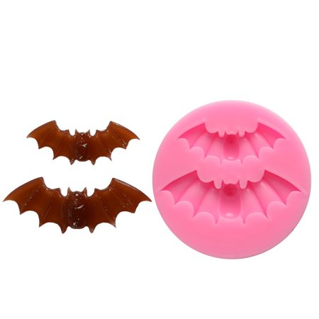 Justdolife Fondant Mold 2 Bats Designed Silicone Cake Cookie Chocolate For Pastry