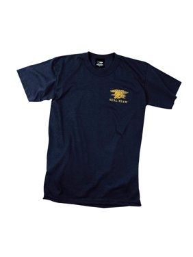 0c7b09364cd671 Product Image Yellow Navy Blue Seals Logo on Navy Blue T-Shirt