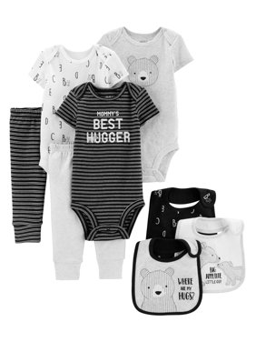 Child Of Mine By Carter's Mix N Match Bodysuits, Pants, & Bibs, 8pc Outfit Set (Baby Boys)