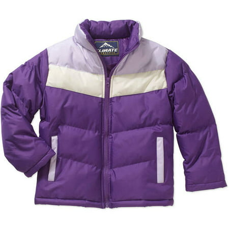 - Climate Concepts Girls' Color Blocked Puffer Jacket