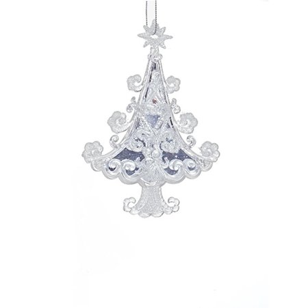 "5.7"" Ornate Crystal Scroll Pattern Christmas Tree Hanging Christmas Ornament - image 1 de 1"