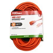 Hyper Tough 100 ft., 16/3 Extension Cord, Orange, Indoor/Outdoor Use