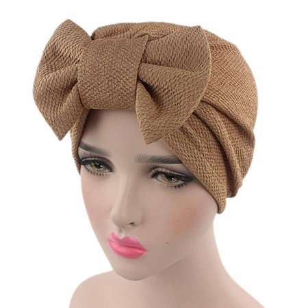 ddd8ee1a67009 Iuhan Women Bow Cancer Chemo Hat Beanie Scarf Turban Head Wrap Cap KH.  Average rating 0out of5stars