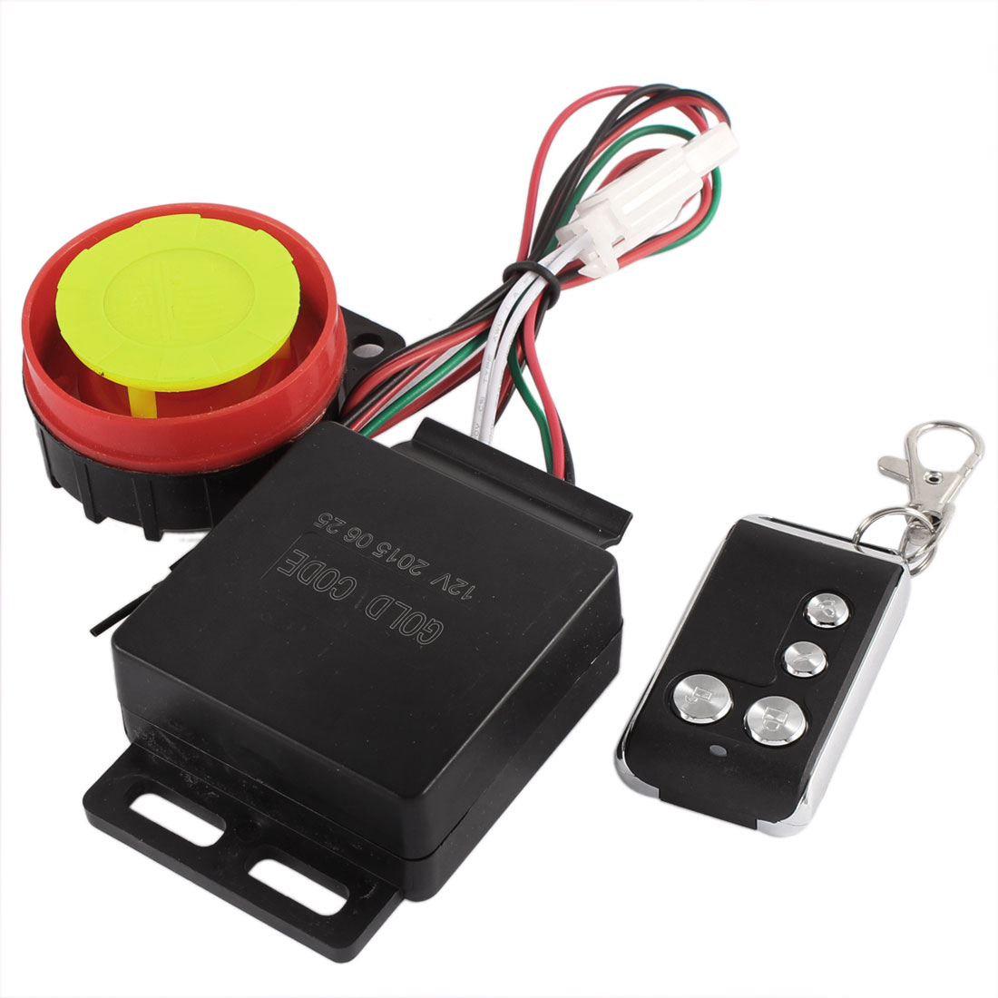 Unique BargainsDC 12V Motorcycle Anti-theft Security Alarm System Set w Remote Controller