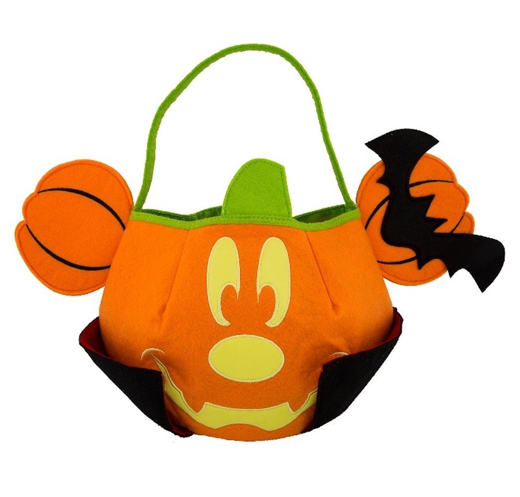 2017 Vampire Mickey Mouse Pumpkin Felt Halloween Candy Bu...