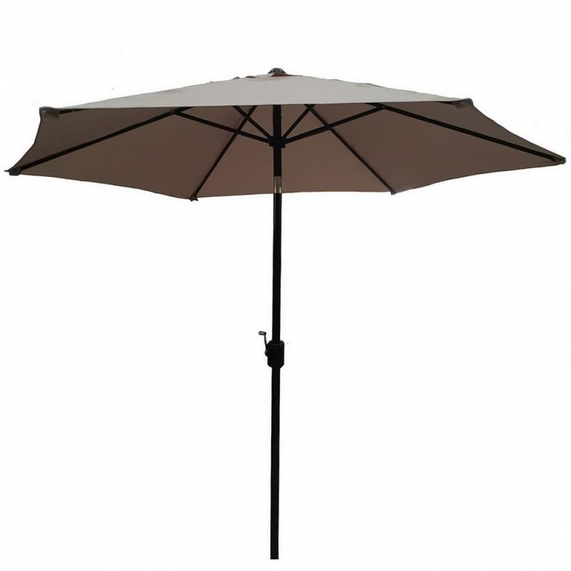 Palm Springs 8ft Aluminium Outdoor Patio Umbrella Garden Parasol with Tilt - Tan