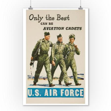 USA - US Air Force - (artist: Hook  c. 1948) - Vintage Advertisement (9x12 Art Print, Wall Decor Travel Poster)
