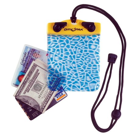 Alligator Skin Wallets (Dry Pak TPU Waterproof and Temperature-Resistant Wallet with Alligator Skin Print Pattern and Removable Adjustable Lanyard Multi..., By Dry-Pak Ship from)