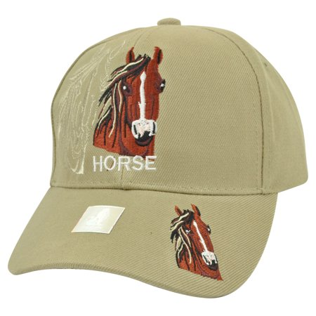 Horse Animal Beige Shadow Country Mustang Broncos Hat Cap Riding Rodeo - Horse Hat
