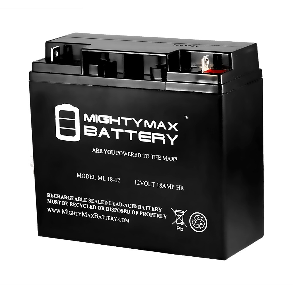 ML18-12 - 12V 18AH Earthwise Electric Lawn Mower Battery Replaces 24V Battery