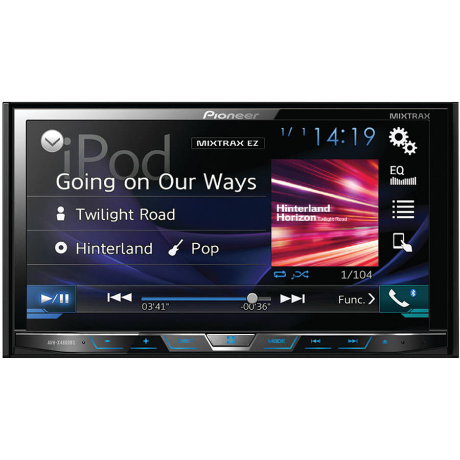 "Pioneer Avh-x4800bs 7"" Double-DIN In-Dash DVD Receiver with Motorized Display, Bluetooth, Siri Eyes Free, SiriusXM Ready, Spotify and AppRadio One"